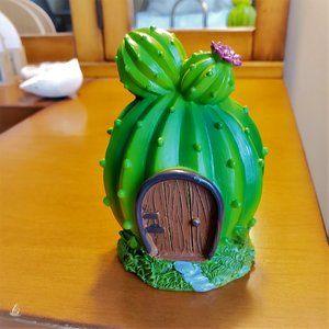 Cactus Fairy House, desert fairy garden accessory